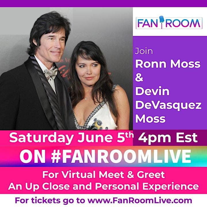 Ronn Moss & Devon Moss host FanRoom Live image