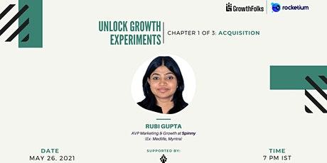 Unlock Growth Experiments | Acquisition Special | Growth Folks tickets