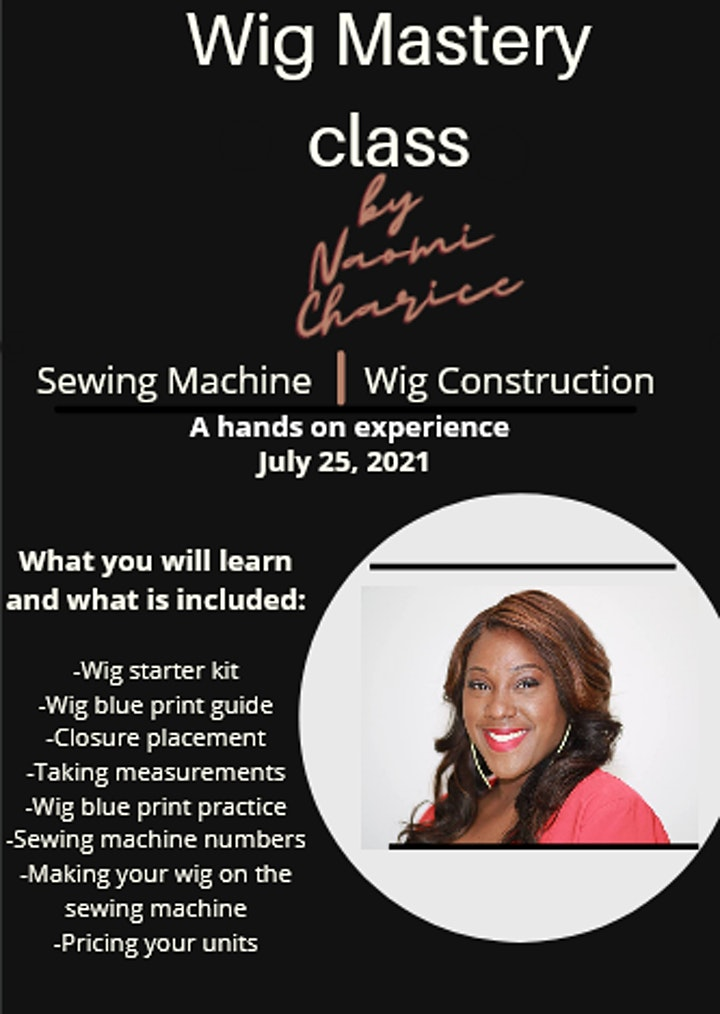 Wig Mastery:Learn How To Make A Lace Closure Wig Using A Sewing Machine image