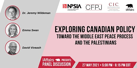 Canadian Foreign Policy and the Middle East Peace Process tickets