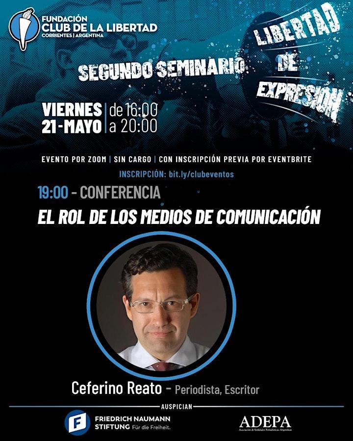 Imagen de CLUB DE LA LIBERTAD - SEGUNDO SEMINARIO DE LIBERTAD DE EXPRESIÓN