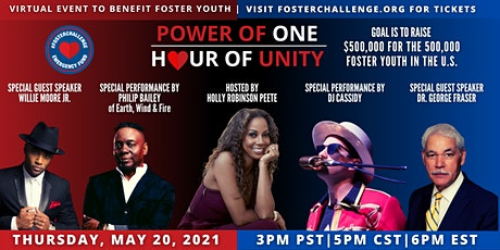 2nd Annual #FosterChallenge - Power of One: Hour of Unity 2021 tickets