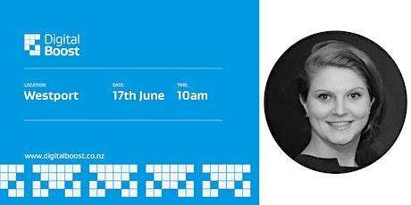 Digital Boost Workshop with Digital Ambassador - Tash Barnes Dellaca tickets