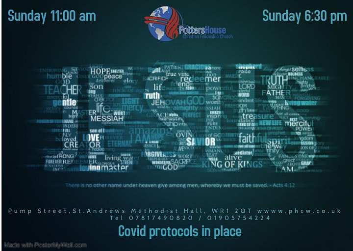 Potters House Church Worcester In Person Services Sunday 11am and 6:30pm image