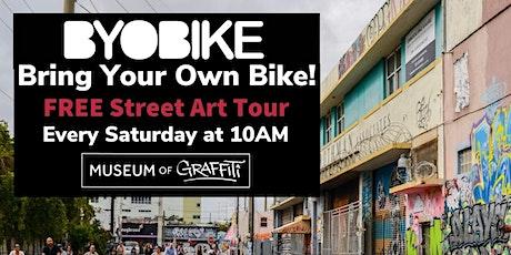 "BYOB! ""Bring Your Own Bike"" FREE Street Art Tour tickets"