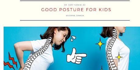 Good posture for children Tickets