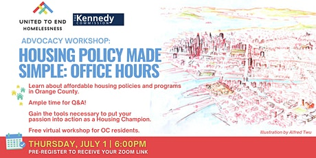 Housing Policy Made Simple: Office Hours - Online Advocacy Workshop tickets
