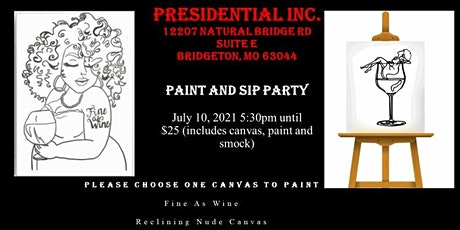 Presidential Inc Paint and Sip Party tickets