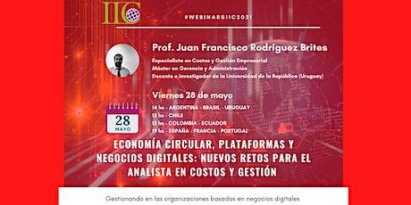 Economía Circular, Plataformas y Negocios Digitales boletos