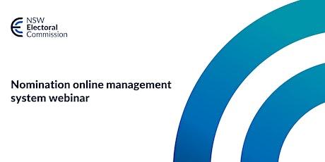 Nominations Webinar tickets
