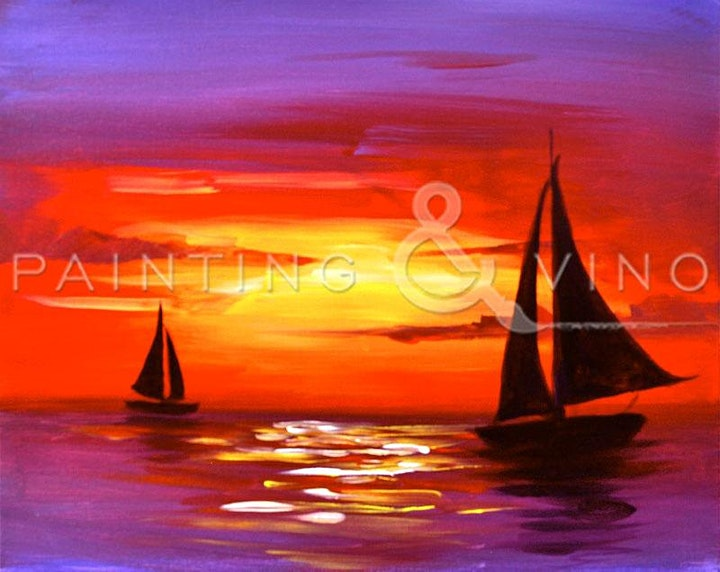 """Sip & Paint """"Sailboats"""" Rip Current Brewing image"""