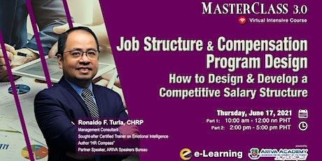 Job Structure and Compensation Program Design tickets