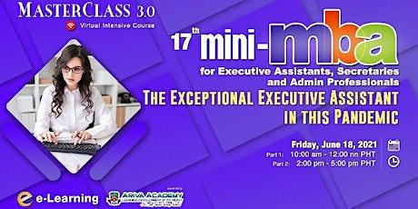 Mini-MBA for Executive Assistants, Secretaries and Admin Professionals ingressos