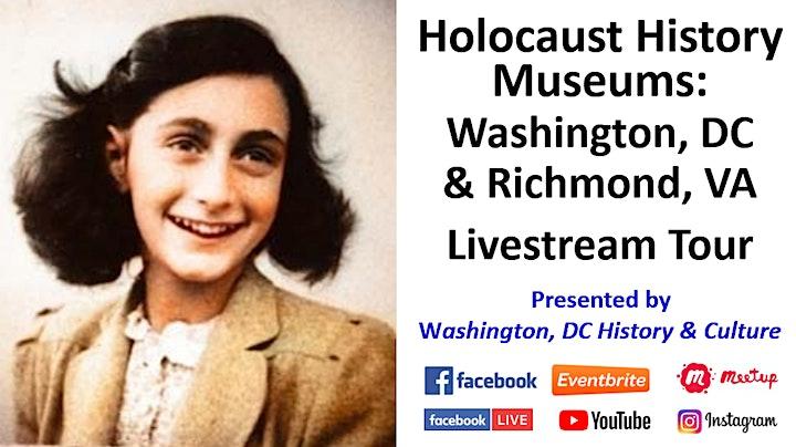Holocaust History Museums: Washington, DC and Richmond, VA Livestream Tour image