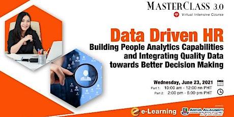 Data Driven HR: Building People Analytics Capabilities tickets