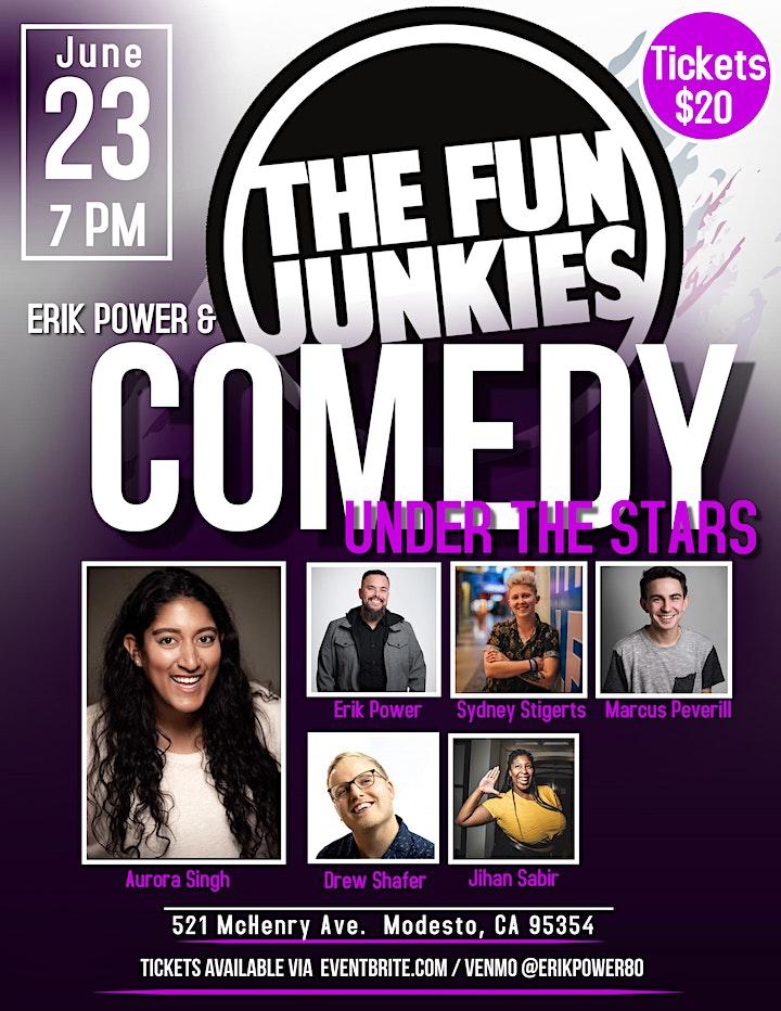 Erik Power & The Fun Junkies present Comedy Under the Stars image
