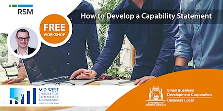 How to Develop a Capability Statement (Geraldton) tickets
