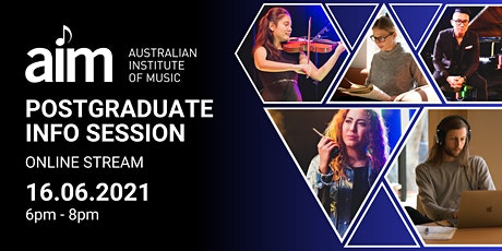 Info Session: Postgraduate Music Programs | Online Stream | 16 June 2021 tickets