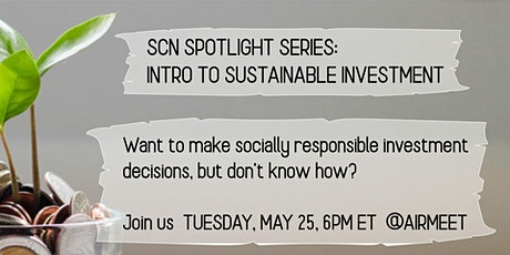 Introduction to Sustainable Investing tickets