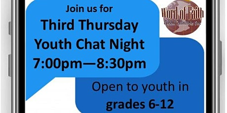 Third Thursday Youth Chat Night tickets