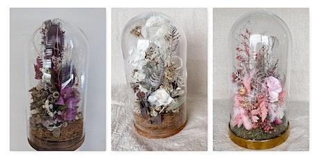 Midweek Glass cloche Flowergarden (Dried/Preserved tickets