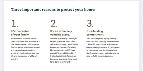 Mortgage Protection Program tickets