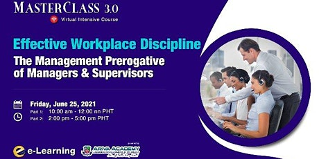 Effective Workplace Discipline: The Management Prerogative of Line Managers tickets