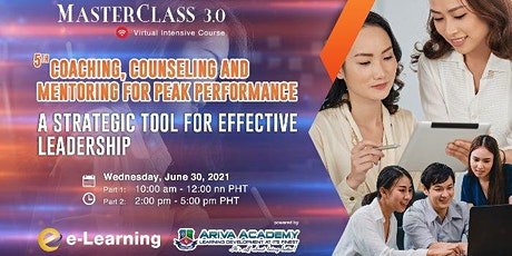 5th Coaching, Counseling and Mentoring for Peak Performance tickets