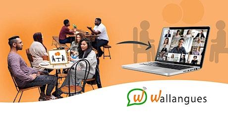 Table de conversation virtuelle - anglais billets