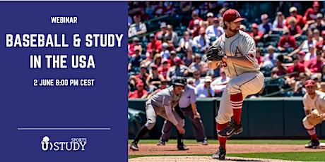 """Gratis webinar """"Studie en honkbal in de VS"""" tickets"""
