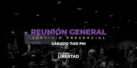 Reunión General 22 Mayo | Sábado 7:00 PM boletos