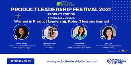 Women in Product Leadership Roles, 3 lessons learned tickets