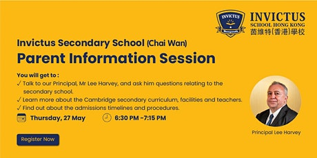Invictus Secondary (Chai Wan) Parent Information Session tickets