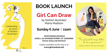 Book launch: Girl Can Draw. Written by fashion illustrator Marta Madison tickets