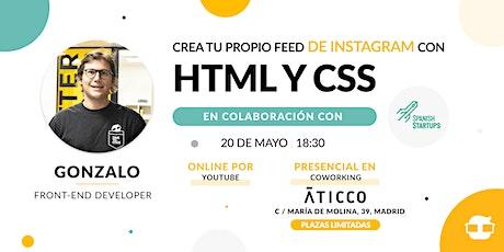 Crea tu propio Feed de Instagram con HTML Y CSS tickets