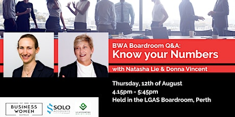 BWA, Perth, Boardroom Q&A: Know your Numbers tickets