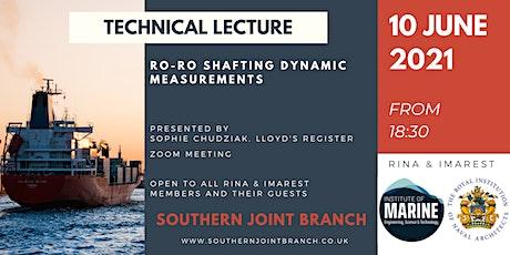 Ro-Ro Shafting Dynamic Measurements biglietti