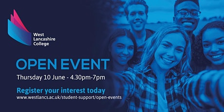 West Lancashire College Open Event -  Thursday 10th June 2021 tickets