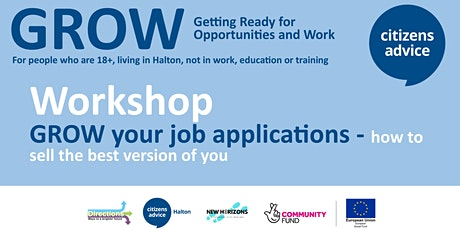 GROW your job applications - how to sell the best version of you tickets