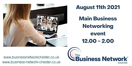 11th August  2021 Online Business Networking event + optional seminar tickets