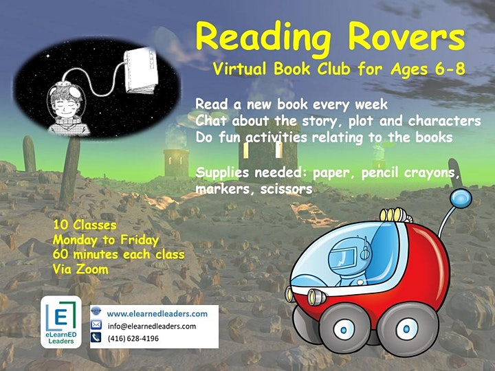 Reading Rovers - Book Club for Ages 6-8 (10 sessions) image