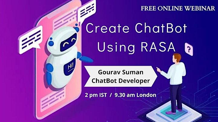 Webinar on RASA ChatBot Info Session image