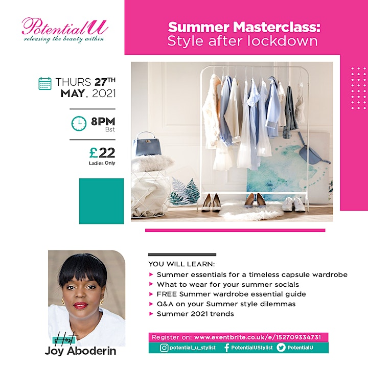 Summer Masterclass:  Style after lockdown! image