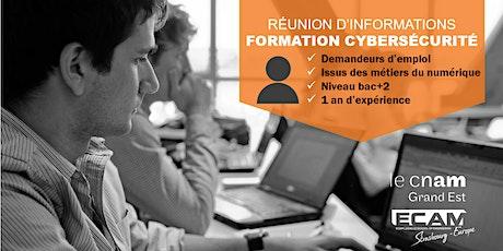 """Réunion d'informations : formation """"Administrateur-trice cybersécurité"""" billets"""