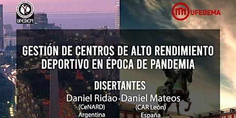 Gestión de Centros de Alto Rendimiento Deportivo en Época de Pandemia entradas