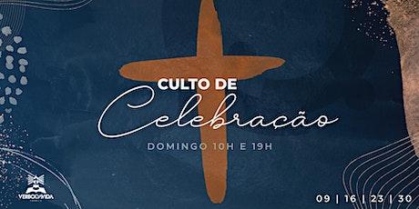 Culto de celebração - 23/maio/2021 bilhetes