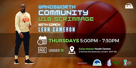 U18 Wandsworth Community Scrimmages - Weekly Basketball tickets