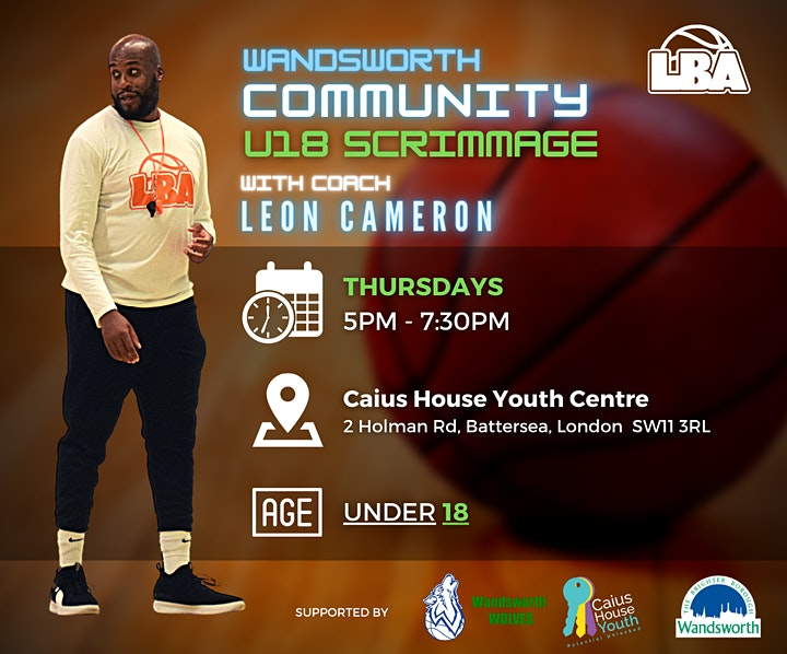 U18 Wandsworth Community Scrimmages | @ Caius House | Weekly Basketball image