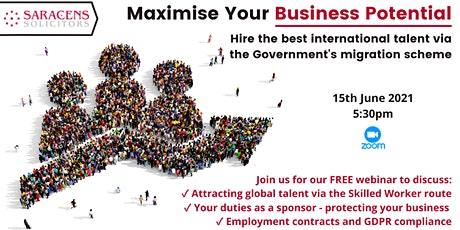 Maximise Your Business Potential  - FREE Webinar and Q&A Session tickets