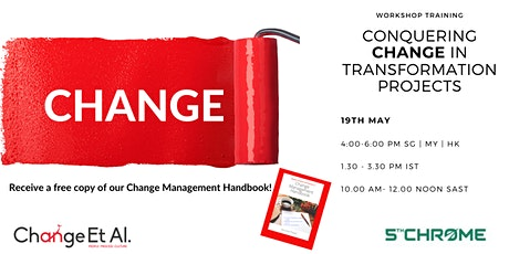 Conquering Change in Transformation Projects - Workshop tickets